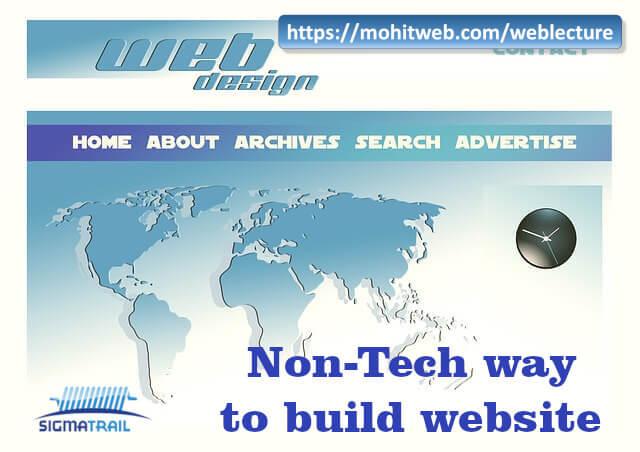 Non-Tech way to build a Website
