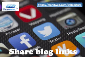 Share blogs on Social to build Trust