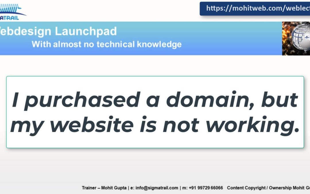 Podcast – I bought a domain but my website is not working